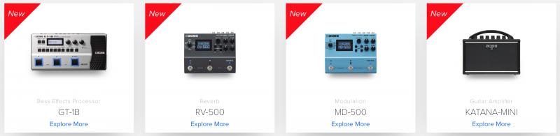 Czerwcowe nowości Bossa: MD-500, RV-500, GT1B i Katana Mini