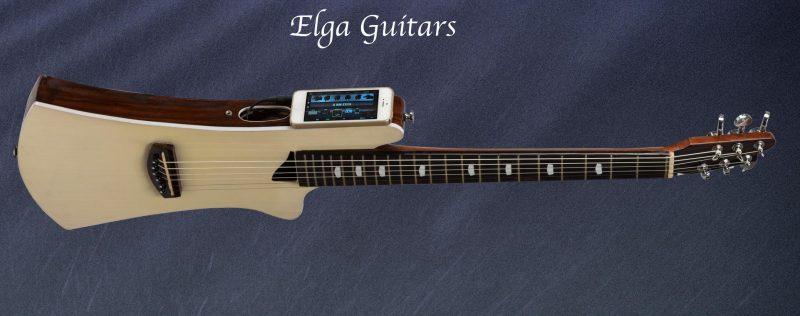 Podróżna gitara… z iPhonem: Elga Guitars